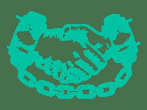 handshake in chains