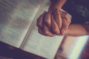 Pastor praying